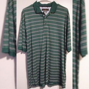 Vintage Tommy Hilfiger Golf Striped Polo Large Tee